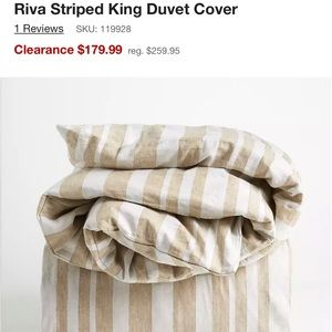 Crate & Barrel King Rival Duvet Cover